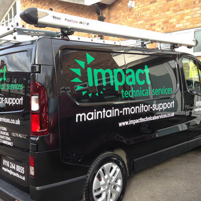 Vehicle Livery for Impact Technical Services by JM Ranger Ltd